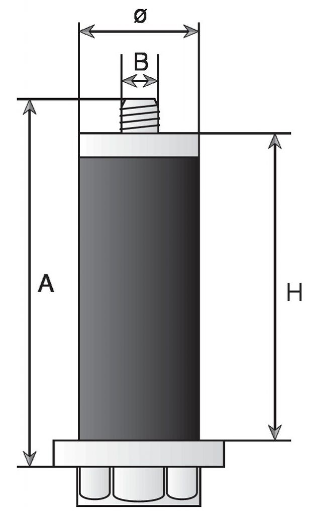 Fixation expansible élastomère pour tubes ronds