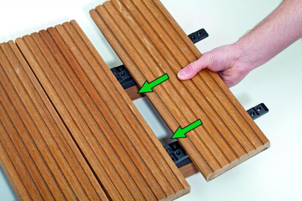 Terrasse Spax : Fixation invisible pour terrasse bois spax Stick