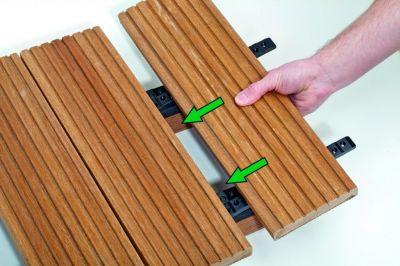 fixation invisible pour terrasse bois spax stick. Black Bedroom Furniture Sets. Home Design Ideas