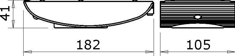 Fluo bridge aluminium - 6 W / 220 V - ampoule 3000° K