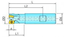 Fraises à surfacer et à dresser queue cylindrique pour BOMT 13