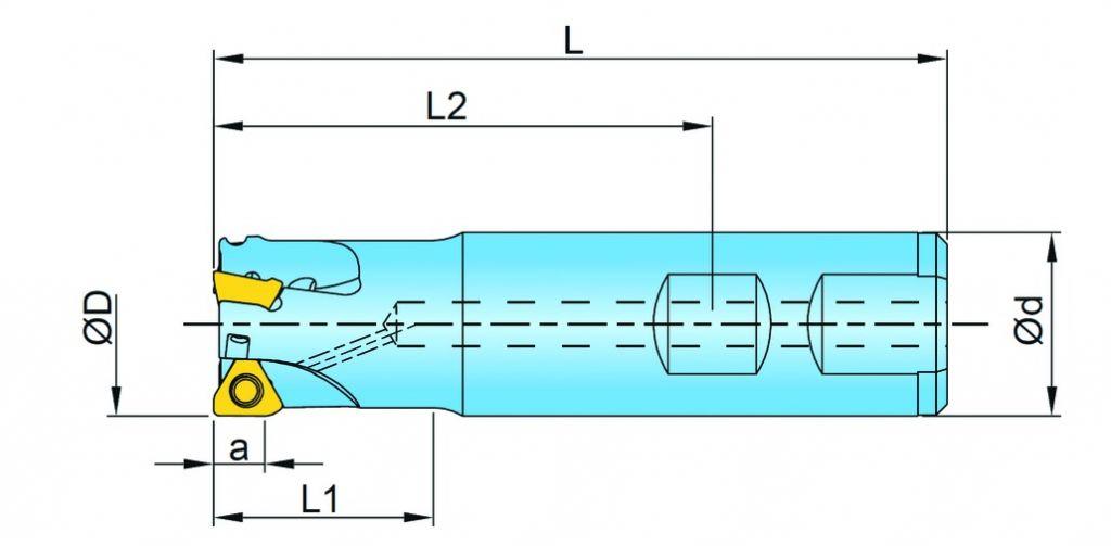 Fraises à surfacer et à dresser queue cylindrique pour THLS 06