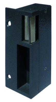 Gâche applique en aluminium laqué pour serrure verticale - 1/2 tour en haut - double empennage