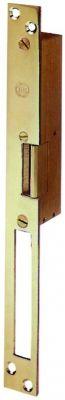Gâche encastrée livrée avec tétiêre en bronze - double empennage