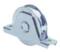 Galet avec platine interne à gorge ronde - acier zingué