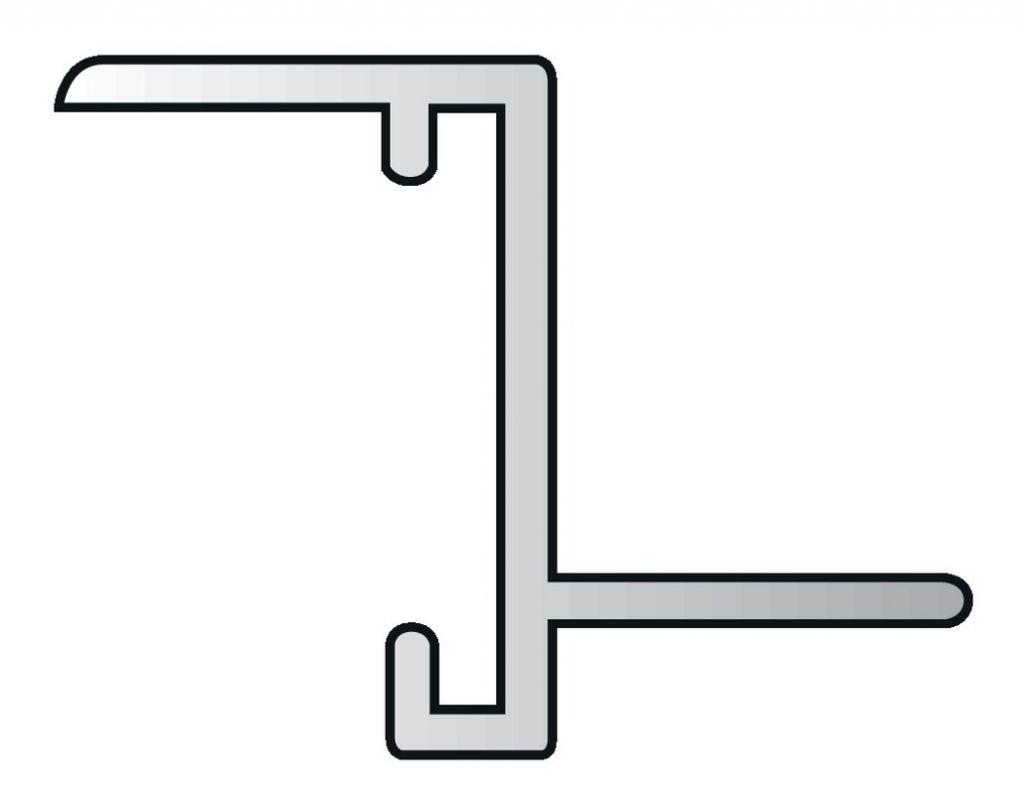 Grille cache radiateur alu anodisé naturel