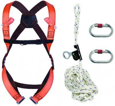 Harnais de sécurité Delta Plus kit anti-chute vertical à corde 10 m