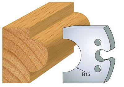 Jeux de 2 couteaux profilés hauteur 50 mm - épaisseur 5,5 mm - entraxe 24 mm