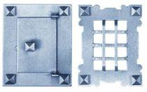 Judas plaque 130 x 105 mm - porte 85 x 62 mm