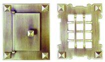 Judas plaque 130 x 105 mm - pour porte de 85 x 62 mm