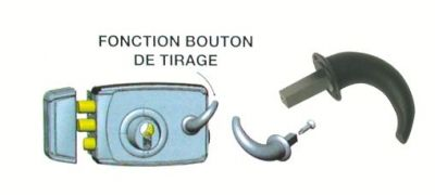 Kit bouton de tirage pour sûreté à cylindre à profil européen ZAP - JPM