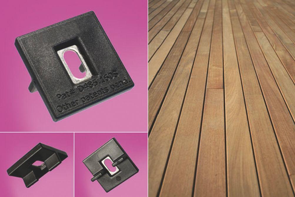 Kit Hardwood clip - inox A2