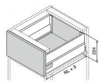 Kit intivo TIP-ON BOXCAP hauteur D : 224 mm - noir