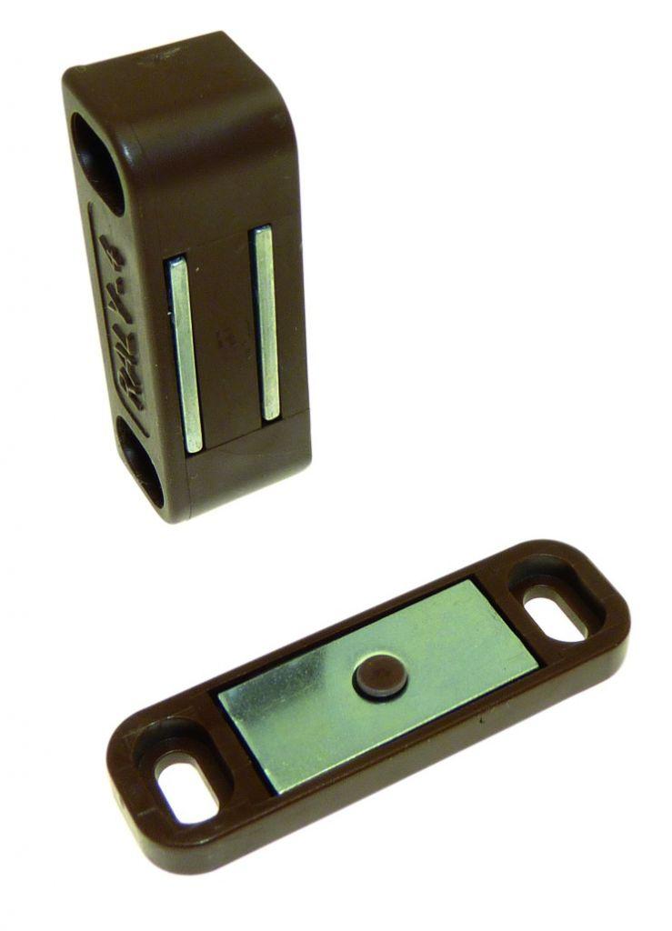 Loqueteau magnétique série Raly - avec contre-plaque