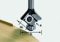Mèche d\'affleureuse à moulurer 2 coupes à plaquettes réversibles HW