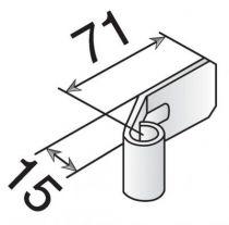 Noeud réglable pour trou rond à riveter réglable