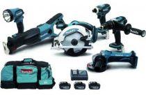 Pack machines sans fil kit 6 outils DLX 6003 - 18 volts