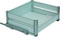 Panier à coulisses 1 niveau de rangement - cadre aluminium anodisé - panier gris