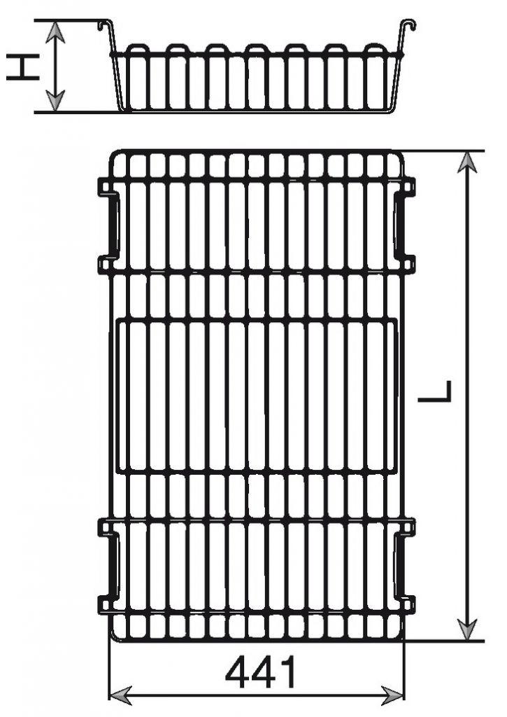 Panier métal pour cadre coulissant