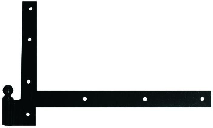 Paumelle forgée à boule broche et bague a pivot équerre acier cataphorèse noir