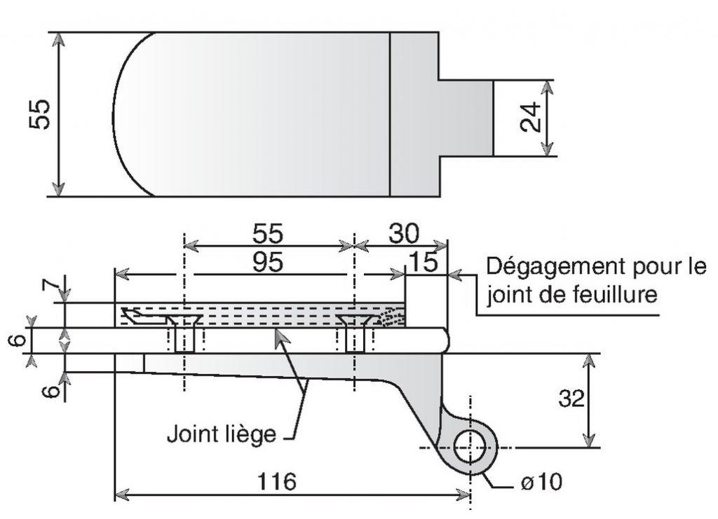 Paumelle la paire encoche 213 - pour feuillure de 35 mm
