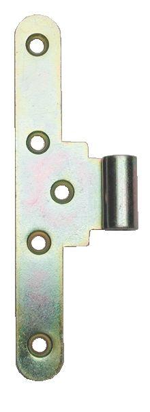 Paumelle ordinaire acier bichromaté - lame à bouts ronds - simple réversible