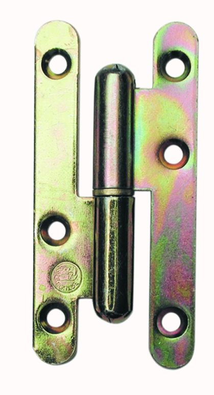 Paumelle ordinaire acier bichromaté - Lame à bouts ronds