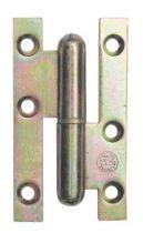 Paumelle ordinaire acier bichromaté - lames à bouts carrés