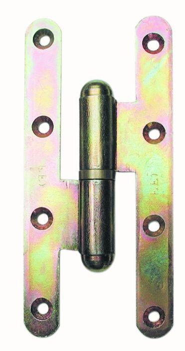 Paumelle picarde acier bichromaté - Lame à bouts ronds