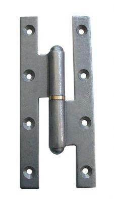Paumelle renforcée acier brut - Lames à bouts carrés
