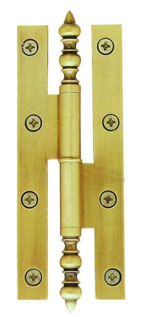Paumelle rustique - Laiton patiné - Lames à bouts carrés