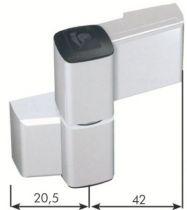 Paumelle série 60 AT pour porte aluminium jusqu\'à 140 kg - Axe 20 mm