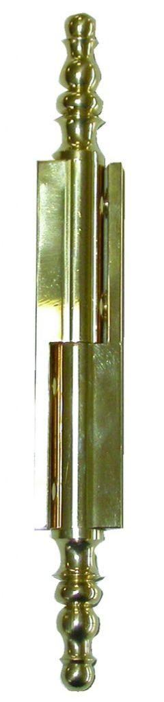 2 paumelles charnière à vase porte en applique laiton poli 70 mm 130 mm