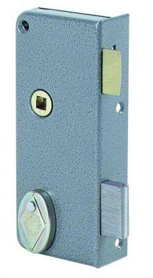 Pêne dormant 1/2 tour verticale extra plate à fouillot - Carré 7 mm - 2 clés - 12 variures