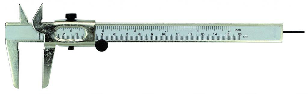 Pied à coulisse lecture 0,1 mm