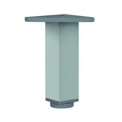 Pied de meuble carré 40 x 40 mm - alu anodisé mat
