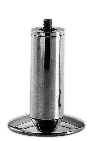 Pied de meuble ø 34 mm - fixation M10 - alu brillant