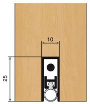 Plinthe anti vent aluminium ellen - Matic - 2