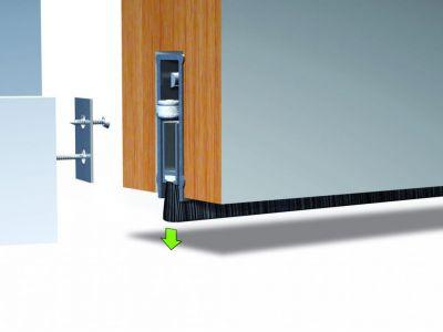 Plinthe anti vent aluminium ellen - Matic - Plus