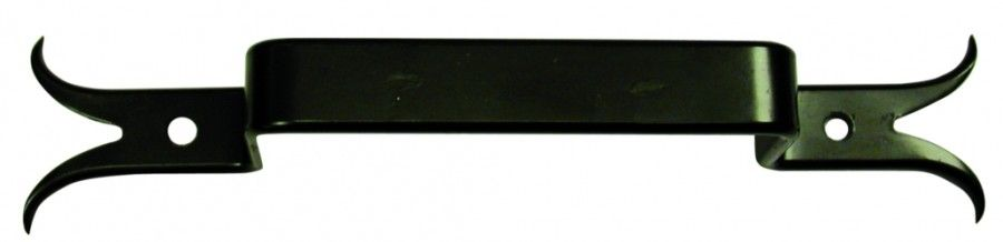 Poignée à pattes queue de carpe - acier noir
