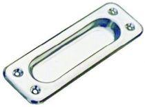 Poignée classique a encastrer - acier inox - profondeur 5 mm