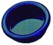 Poignée classique a encastrer - platine ronde plastique noir - profondeur 9 mm