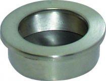 Poignée classique a encastrer - platine ronde zamack - profondeur 11 mm