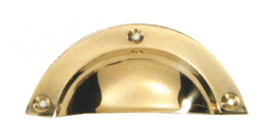 Poignée classique coquille laiton longueur 91 mm