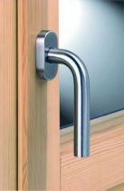 Poignée de fenêtre série EST qualité A2 - AISI 304 - ø 20 mm - longueur 136 mm