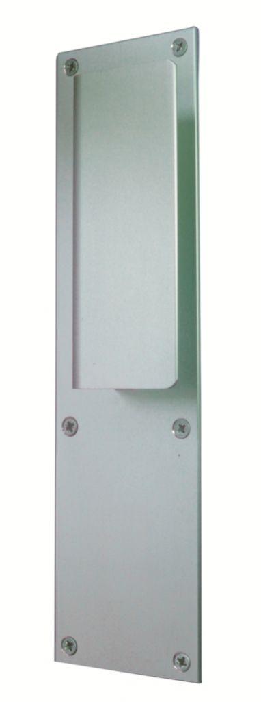 Poignées sur plaques pour portes palières dimensions 250 x 70 mm