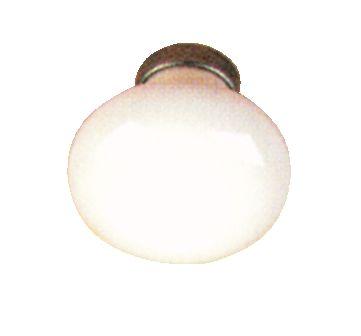 Porcelaine blanche - fer cémenté patiné