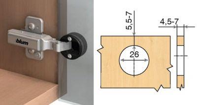 Porte semi-applique - ouverture 94°