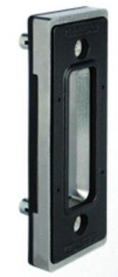 Pour portail coulissant gâche plate + butée de porte