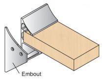 Profil porte tablette aluminium